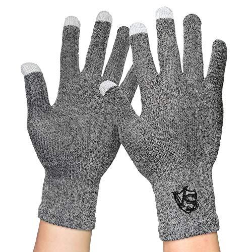 Vital Salveo–Full finger recupero guanti touchscreen per iPhone, iPad, HTC altri telefoni e tablet (coppia) Grey Large