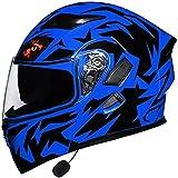 Motorbike Helmet Casco integral para motocicleta Casco integral para motocicleta integrado con Bluetooth DOT/ECE Aprobado por DOT / ECE Visera doble antivaho Casco para locomotora de motocicleta plega
