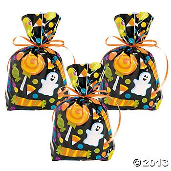 72 HALLOWEEN Cellophane GOODY Bags 6 Dozen/CELLO TRICK or Treat CANDY Bags/Favors/CANDY/SWEETS