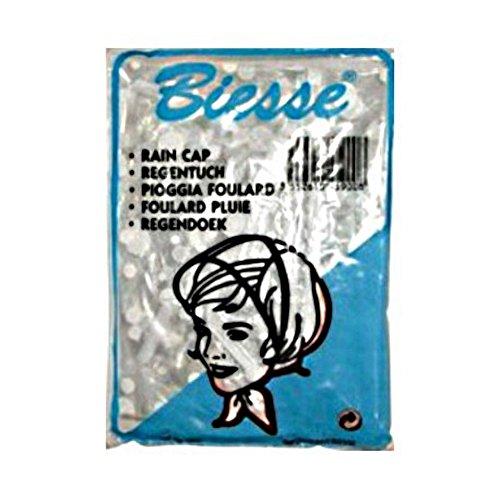 BONNET DE PLUIE CHAPEAU TRANSPARENT IMPERMEABLE BIESSE