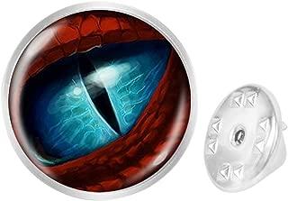 Pinback Buttons Badges Pins Lightning Hole Pu Eyeball Lapel Pin Brooch Clip Trendy Accessory Jacket T-Shirt Bag Hat Shoe