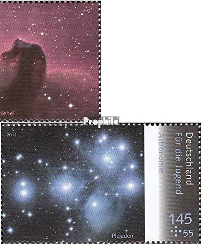 Prophila Collection BRD (BR.Deutschland) 2883-2886 (kompl.Ausg.) Zusammendrucksatz mit 2884-2885Paar 2011 Astronomie (Briefmarken für Sammler) Weltraum