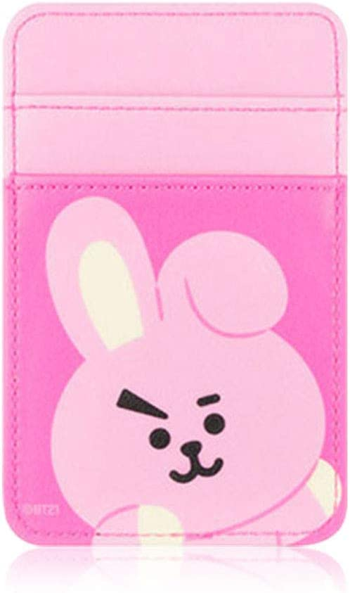 BT21 Official Newest Merchandise, Phone Card Pocket, Sleeve, Pouch, Compatible with Most of Smartphones (Cooky)