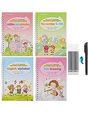 spier Praktijk Kalligrafie,Engels Praktijk Copybook Hergebruikt Handschrift Copybook Tracing Boek Set voor Kid Kalligrafische Brief Schrijven Tekening Copybook