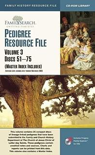 PEDIGREE RESOURCE FILE ((Master Index Included), Volume 3 Discs 51-75)
