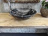 Lavabo de mármol Portoro Silver Medida 43 cm Fotos reales del lavabo lavabo de...