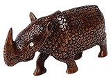 SouvNear Madera Rinoceronte Escultura–Tallado a Mano–Rinoceronte...