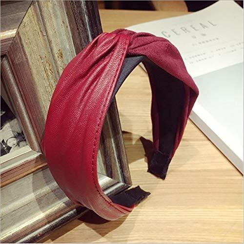 TSEINCE Fashion haaraccessoires handgemaakte stof leer imitatie leer suède geknoopt breedgerande haarband hoofdband voor vrouwen