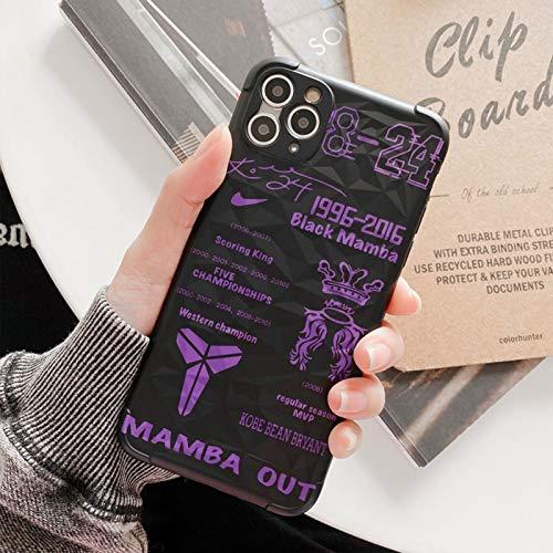 Lakers - Funda protectora de silicona para iPhone X, XS XR y XSMAX, diseño de estrella de baloncesto