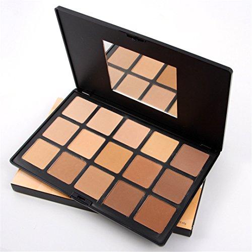 FantasyDay® 15 Couleurs Palette de Maquillage Poudre pour le Visage Correcteur Camouflage Cosmétique Set - Convient Parfaitement pour une Utilisation Professionnelle ou à la Maison