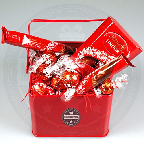 Lindt Lindor Milk Truffles Treat Bucket By Moreton Gifts Ideal Father's Day / Birthday Gift By Moreton Gifts