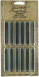 Metal Word Bands by Tim Holtz Idea-ology, 12 per Pack, 2-