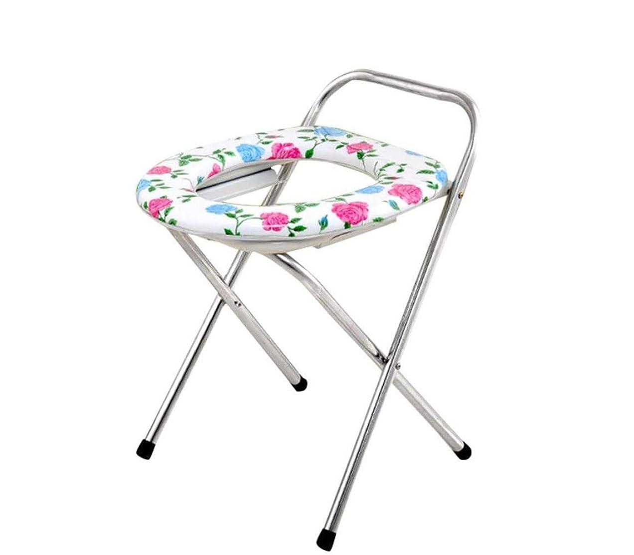 コアカメ記念高齢者の障害のための折りたたみ式便器椅子止まり台ステンレス鋼フレーム