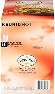 Twinings of London Pure Rooibos Herbal Tea K-Cups for Keurig, 24 Count (Pack of 1)