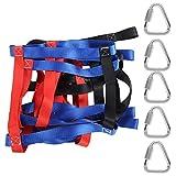 RiToEasysports Gurtband Kletternetz, buntes körperliches Training Fitness Kindersportarten Klettern Frachtnetz für Kinder zum Schaukeln, Dschungel-Gymnasium, Hindernisparcours im Soldatenstil