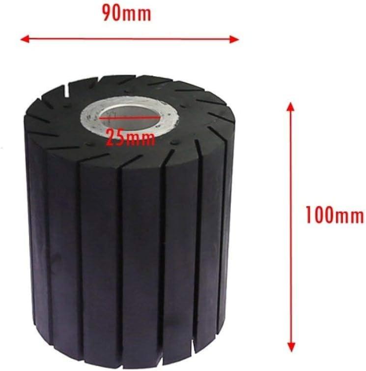 25mm funziona con nastri abrasivi Ruota per lucidatura in gomma con ruota di espansione 90 manicotti da 30 pezzi 100