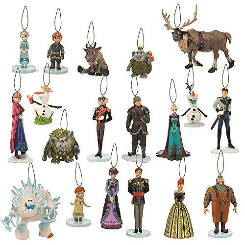 Disney Frozen Christmas Tree Mega Ornament Set Featuring Anna and Elsa, Coronation Anna and Elsa, Youth Anna and Elsa, Kristoff, Young Kristoff, Sven, Young Sven, Olaf, Summer Olaf, Hans, Marshmallow, Oaken, Duke of Weselton, King and Queen of Arendelle, Bulda, Pabbie