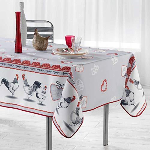Arte Provenzale TOVAGLIA ANTIMACCHIA Dis.GALLINOU Rettangolare, per Sala da Pranzo e Cucina (300_x_150cm)