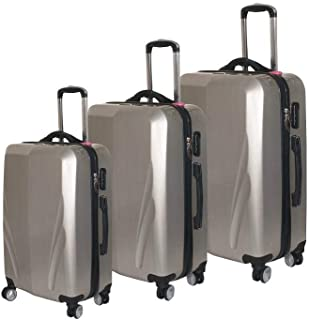 Discovery Luggage with Built-in Scale & 100m Chip Tracker, 3 Piece Set