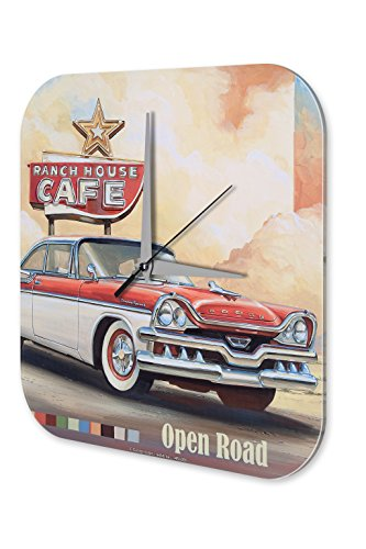 Horloge murale Tour Du Monde G. Huber Café maison du Ranch Imprimee Plexiglas