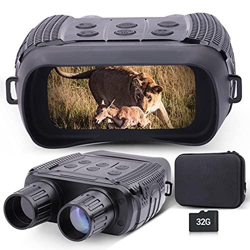 Binocolo per visione notturna digitale WIFI per adulti, schermo LCD da 2,31'' 300M/980FT Occhiali per visione notturna a infrarossi con scheda di memoria 32G per caccia e sorveglianza