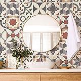 Confezione 10 Pezzi misura 20x20 cm - Made in Italy - PS00220 Decorazioni adesive Piastrelle in vinile Bagno e Cucina Stickers Design Adesivi Murali