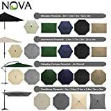 Outdoor Garden Parasols by <span class='highlight'><span class='highlight'>Nova</span></span> - Various Round Rectangular Squared in Aluminium Wood Steel Metal Patio Umbrellas - Many Different Sizes & Colours (3m Round - Crank & Tilt - Beige)