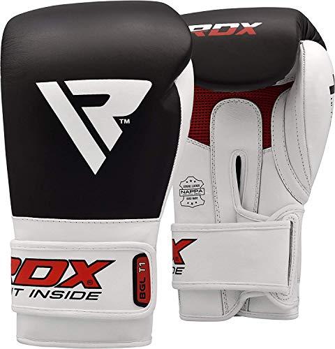 RDX Guantes de Boxeo para Muay Thai y Entrenamiento | Cuero Vacuno Mitones para Sparring, Kick Boxing | Adulto Boxing Gloves para Saco Boxeo, Combate Training