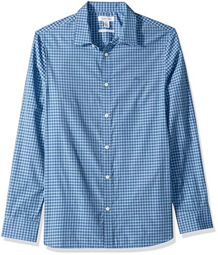 Calvin Klein Camisa de algodón Cachemira con Botones para Hombre