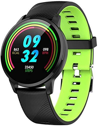 Smart Watch Mujeres Correr Pulsómetro Bluetooth Podómetro Touch Inteligente Deportes Smartwatch para Mujeres Hombres -G