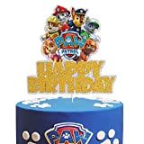 Dog Paw Patrol Happy Birrthday Cake Topper - Claw Dog Patrol Party Cake Decor,Children's Birthday Baby Shower Party Supplies