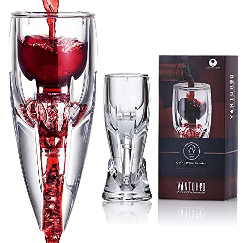 Vintorio Aeratore per Vino (Edizione Omni) - Decanter Premium per Gli Amanti del Vino - con Custodia da Viaggio Regalo e Supporto