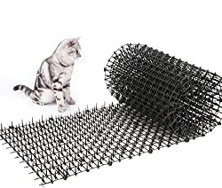 Toopify Garden Cat Scat Spike Mat, Anti-Cats Network Digging Stopper Prickle Strip Home Spike Deterrent