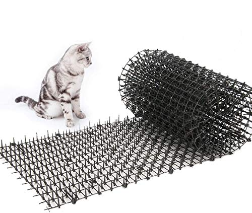 Toopify 13ft Garden Cat Scat Spike Mat, Anti-Cats Network Digging Stopper Prickle Strip Home Spike Deterrent (6.5ft2 Pack)