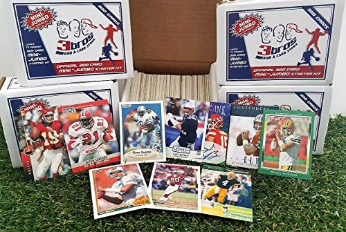 300 card MINI-JUMBO lot of Football cards Starter kit with Guaranteed Superstars -1970's to present. Comes in Custom Souvenir Box- Great gift for the 1st time collectors! OVER 6,300 SOLD by 3bros