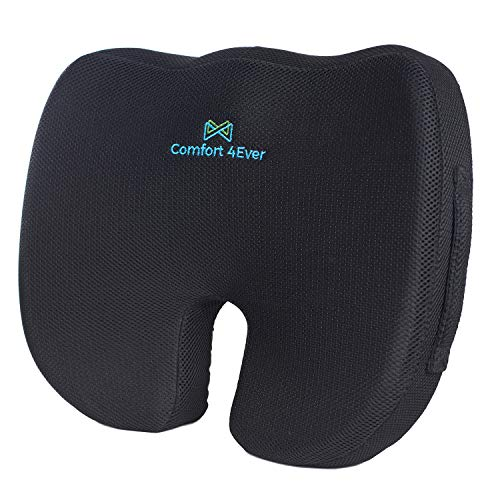 Ergonomic Seat Cushion for Office Chair, Coccyx Cushion for Tailbone Pain - Office Chair Cushion for Butt, Memory Foam Seat Cushion - Sciatica Pillow for Sitting, Seat Cushions for Pressure Relief