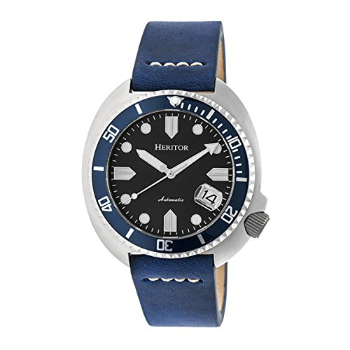 Heritor Automatic Morrison Leather-Band Watch...