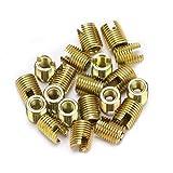 20pcs / set 302 de acero al carbono Subbajador de rosca auto-tapping Inserción de tornillo de tornillo Inserción Fijante de reparación de accesorios DUO ER (Color : Inner M12)