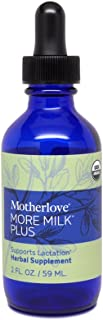 Motherlove More Milk Plus Tincture (2oz) Herbal Lactation Supplement to Enhance Breast Milk Supply for Breastfeeding Moms—...
