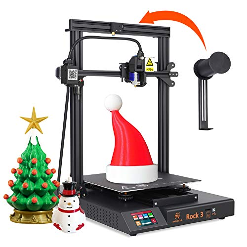 MINGDA Rock 3 FDM 3D Printer DIY Kit with New Direct Drive Extruder, TMC2208 Silent Printing, Dual Leadscrew Z Axis, Filament Runout Detector, Resume Print, Large Build Volume 12.6x12.6x15.75inch
