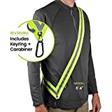 MOONSASH XL – Patented Reflective Night Safety Gear for Big/Tall or...