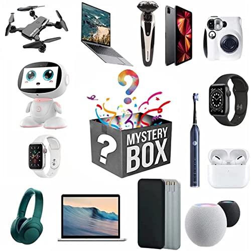 RONGESAEFS Mystery Box Mystery Box Electronica Contiene Regalos Inesperados, como Drones, Relojes Inteligentes, Altavoces Bluetooth, Cámaras Digitales, Etc.El Mejor Regalo para Familiares Y Amigos.