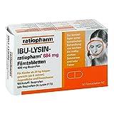 IBU-LYSIN-ratiopharm 684 mg Tabletten bei Schmerzen und Fieber, 50 St. Tabletten