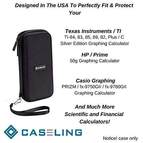 Caseling Graphing Calculator CASE fits TI-84 Plus or TI-83 Plus. And fits the Texas Instruments TI-84 Plus CE or TI-83 Plus CE. + More. Includes Mesh Pocket for Accessories (Renewed) Photo #6