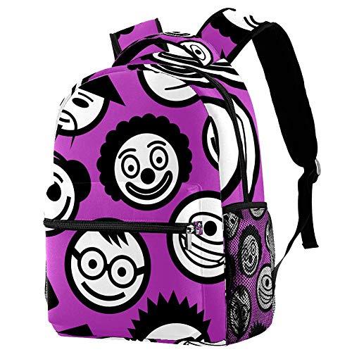 School Backpack Cute Emoji Backpack for Kids Boys Girls,Casual 29.4x20x40cm