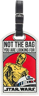 Star Wars R2-D2 C-3PO Not The Bag You are Looking for Droids Luggage Tag w/Bonus Steel Cable