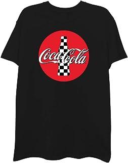 Coca-Cola Classic Mens Shirt - Have a Coke and a Smile Tee - Coke Soda Classic Checker T-Shirt
