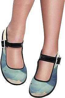 78f058f04ba9 INTERESTPRINT Women s Satin Mary Jane Flats Ballet Shoes