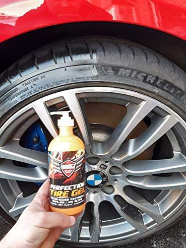 Pearl Nano Perfection - Gel para neumáticos con Aspecto Mojado - Mantiene los neumáticos Negros, polímeros a Base de Agua, Caucho, moldes, plástico (1 Litro)