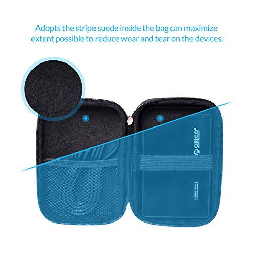 ORICO 2.5 Zoll Festplattentasche Schutztasche Schutzbox für Western Digital WD Seagate Toshiba Samsung Intenso,Maße 17cm x 11,5cm x 3cm,Schwarz